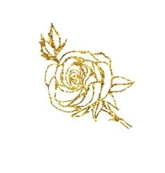 Glowing golden rose vector