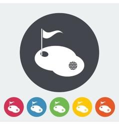 Golf single icon vector image