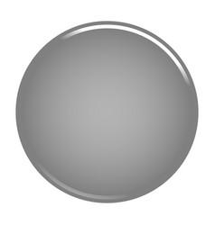 Gray circle button blank web internet icon vector