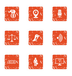 Greater money icons set grunge style vector