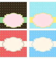 Greeting cards templates vector