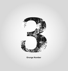 grunge number one distress damaged object vector image