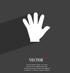 hand symbol Flat modern web design with long vector image