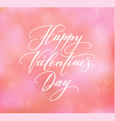 Happy valentines day text on blurred background vector