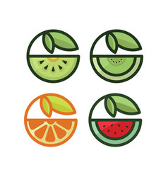 healthy fruit vector image