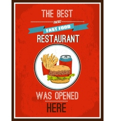 Hotdog poster vector