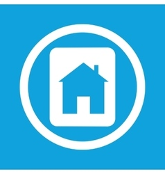 House plate sign icon vector