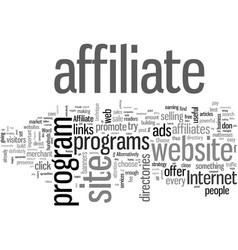 How you could make money with affiliate programs vector