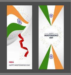 india happy independence day confetti celebration vector image