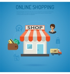 Internet Shopping Poster vector