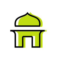 Islamic mosque logo icon design template elements vector
