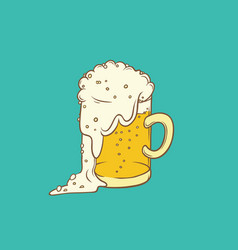 isolated color sketch pint vector image