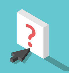 isometric cursor question button vector image