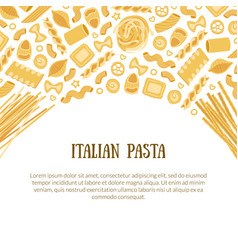 italian pasta banner template with space for text vector image