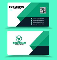 light green business card template vector image