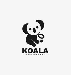 logo koala negative space style vector image