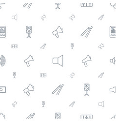 loud icons pattern seamless white background vector image