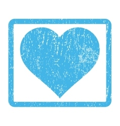Love Heart Icon Rubber Stamp vector
