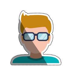 man faceless glasses avatar vector image vector image