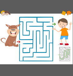 maze leisure game for kids vector image