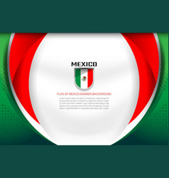 Mexico flag color background vector