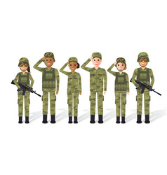 Military people vector