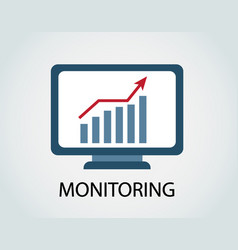 monitoring of income growth vector image