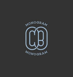 Monogram cb vector