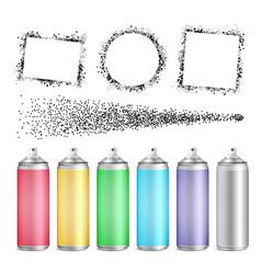 multicolored blank bottle of aerosol set vector image