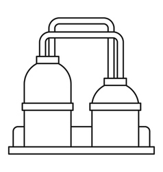 Oil processing factory icon outline style vector