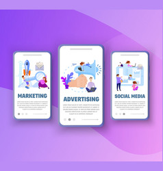 onboarding screens - marketing advertising vector image