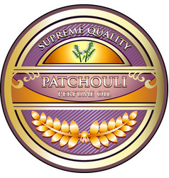 patchouli perfume oil gold icon vector image