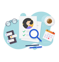 Personal interview data investigation document on vector