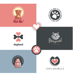 Pet shop logo designs vector