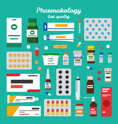 pharmacology best quality vector image