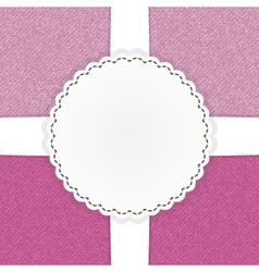 Pink jeans template card vector