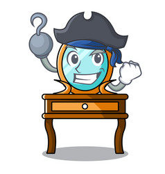 Pirate dressing table character cartoon vector