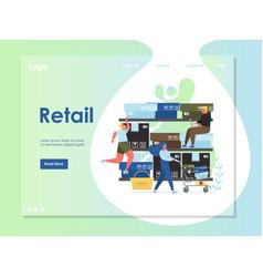 retail website landing page design template vector image