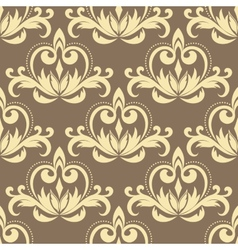 Retro beige seamless pattern vector image