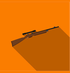 Rifle sniper gun icon flate single weapon icon vector