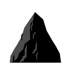 rock coal mining mountain of coal isolated vector image