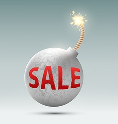 round bomb with the word sale vector image