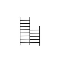 school ladders icon vector image