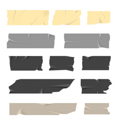 Scotch tapes inaccurately stuck light and dark vector