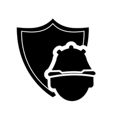 shield and construction worker icon vector image