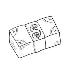 sketch of money vector image