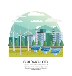 Smart City Ecology Concept vector