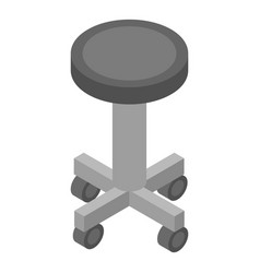 Surgery wheels chair icon isometric style vector