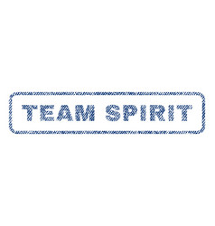 Team spirit textile stamp vector