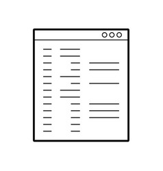 template computer isolated icon vector image